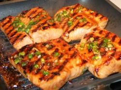 Mango Salsa Grilled Salmon