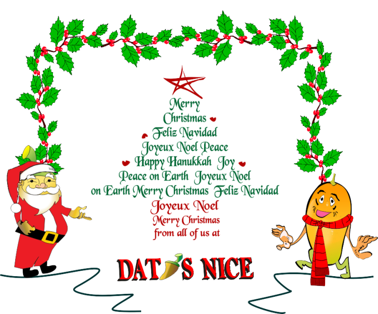 Merry Christmas From Dat\'s Nice | datsnicehotsauce.com